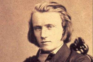 Photograph of the young Johannes Brahms