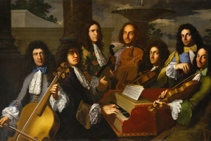 Painting of Baroque orchestra