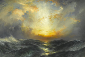 Sunset at Sea, by Thomas Moran