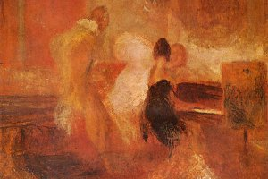 Painting of piano concert by Turner