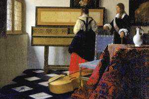Vermeer: A Lady at the Virginals with a Gentleman